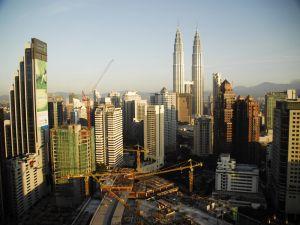 View of the Petronas Towers in Kuala Lumpur