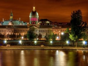 Night view of the Bonsecours Market, Montreal