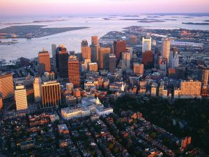 Aerial view of Boston, Massachusetts