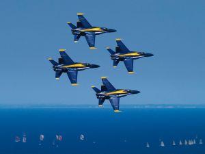 Blue Angels over Lake Michigan