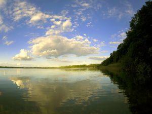 Light and shadow on the lake