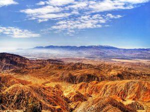 Ocher color mountains