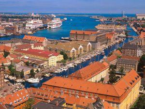 The harbor of Copenhagen, Denmark