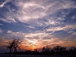 Clouds in sky at sunrise