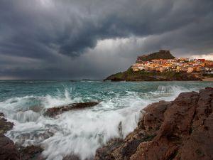 The sea and a coastal village
