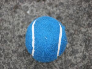 Blue tennis ball