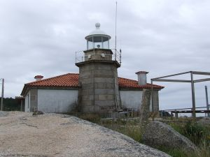 Lighthouse on Isla de Arosa (Pontevedra, Spain)