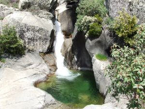 Waterfall in Manzanares river (La Pedriza, Madrid)