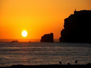 Great sun at sunset