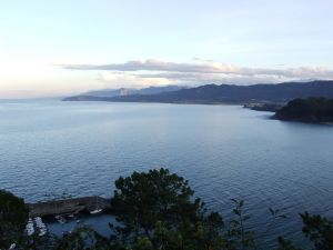 Views of the Cantabrian sea from Lastres (Asturias)