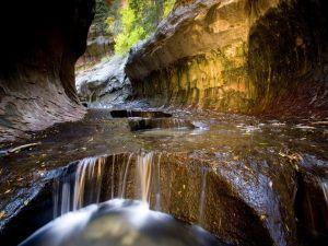 River between large rocks