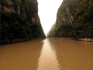 River of brown waters