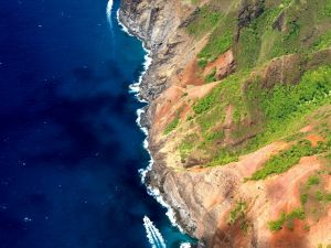 Aerial view of the cliffs