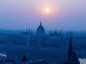 Nightfall in Budapest