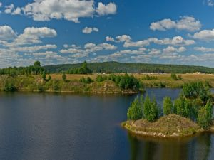 Island on lake